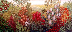 Botanical Garden painting, floral art